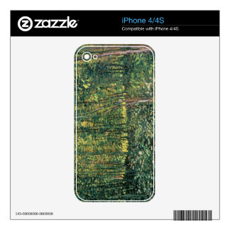 Árboles y maleza, 1887 de Vincent van Gogh el   Skin Para El iPhone 4S