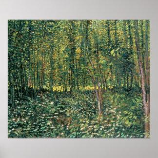 Árboles y maleza, 1887 póster