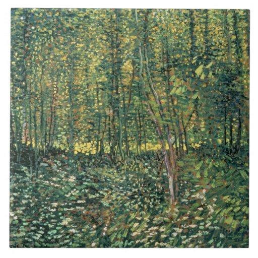 Árboles y maleza, 1887 tejas  ceramicas