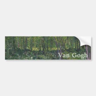 Árboles y maleza de Vincent van Gogh Pegatina Para Coche