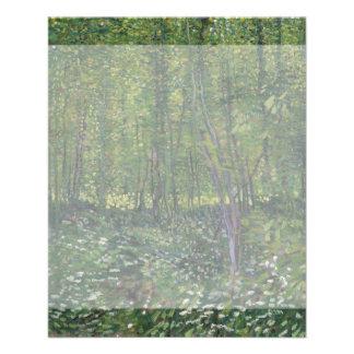 Árboles y maleza de Vincent van Gogh Tarjetas Informativas