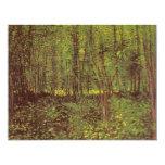 Árboles y maleza de Vincent van Gogh Invitación
