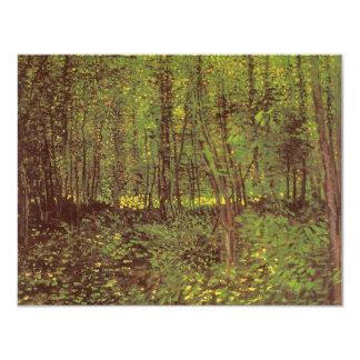 """Árboles y maleza de Vincent van Gogh Invitación 4.25"""" X 5.5"""""""