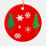 Árboles y ornamento del árbol de navidad de los co ornato