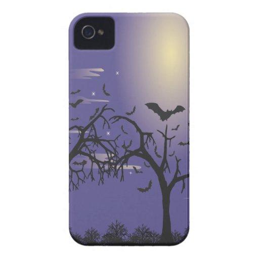 Árboles y palos de la silueta iPhone 4 cobertura