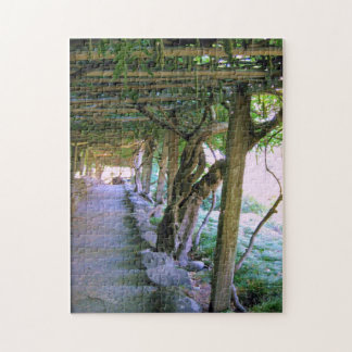 Arbor and Garden Pathway Jigsaw Puzzle