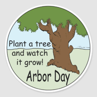 Arbor Day Classic Round Sticker