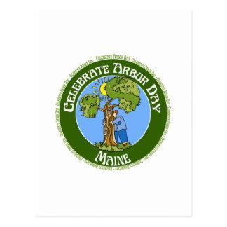 Arbor Day Maine Postcard