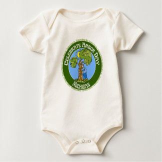 Arbor Day Michigan Baby Bodysuit