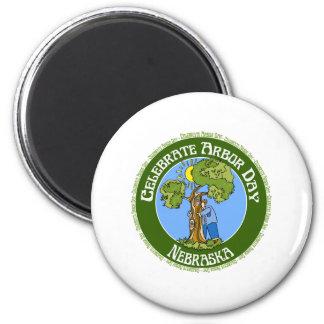 Arbor Day Nebraska 2 Inch Round Magnet