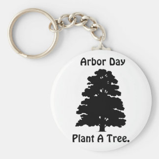Arbor Day;Plant A tree Basic Round Button Keychain