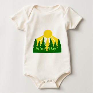 Arbor Day Sunrise Baby Bodysuit
