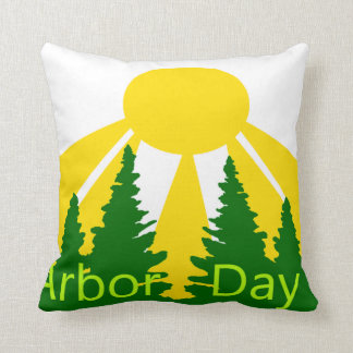 Arbor Day Sunrise Throw Pillow
