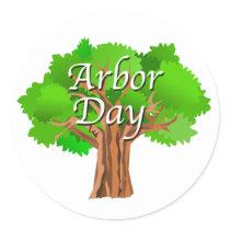 Arbor Day Tree Holiday Classic Round Sticker