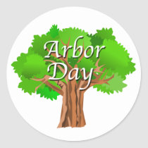 Arbor Day Tree Holiday Classic Round Sticker