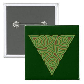 Arboreal Triangle Knot Square Button