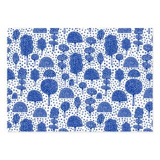 Arboreto 230715 - Azules marinos en blanco Tarjetas De Visita Grandes