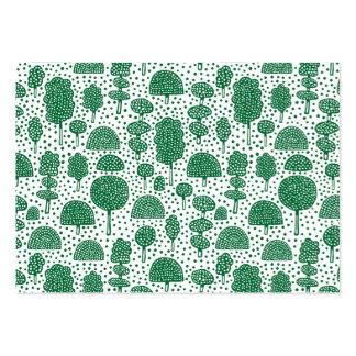 Arboreto 230715 - Forest Green en blanco Tarjetas De Visita Grandes