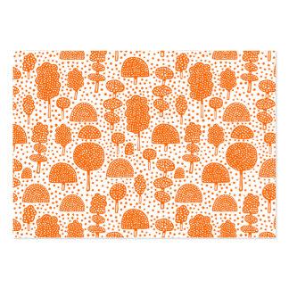 Arboreto 230715 - Naranja en blanco Tarjetas De Visita Grandes