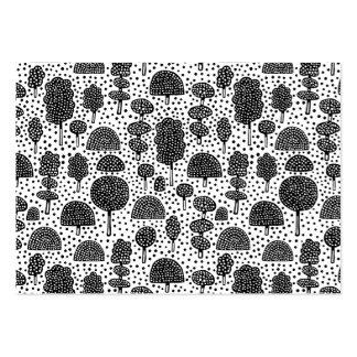 Arboreto 230715 - Negro en blanco Tarjetas De Visita Grandes