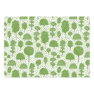 Arboreto 230715 - Verde del aguacate en blanco Tarjetas De Visita Grandes