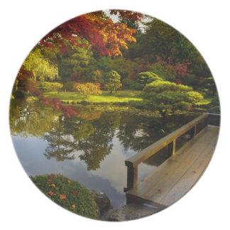 Arboreto, jardín japonés, Seattle, Washington, Platos