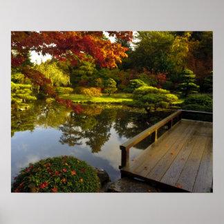 Arboreto, jardín japonés, Seattle, Washington, Póster