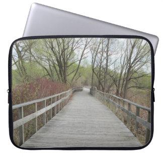 Arboretum Boardwalk Collingwood Ontario Laptop Sleeves