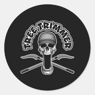 Arborist Skull Classic Round Sticker