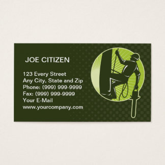 arborist tree surgeon agriculturist chainsaw business card