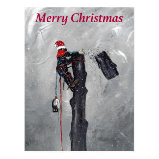 Arborist tree surgeon christmas card