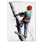 Arborist Tree Surgeon Stihl Greeting Card