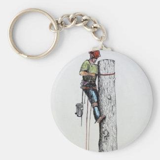 Arborist Tree Surgeon Stihl Keychain
