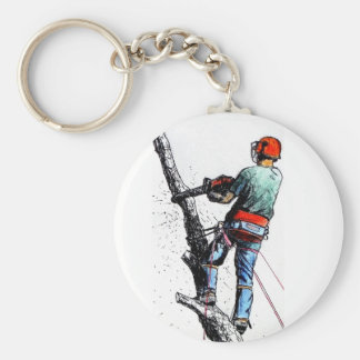 Arborist Tree Surgeon Stihl Keychain