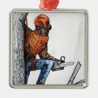 Arborist Tree Surgeon Stihl Metal Ornament