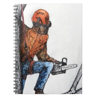 Arborist Tree Surgeon Stihl Spiral Notebook