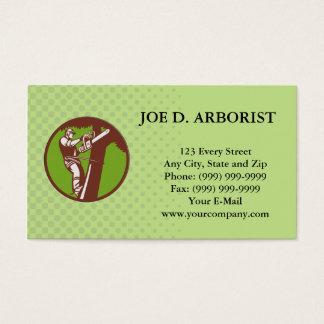 Arborist Tree Surgeon Trimmer Pruner Business Card
