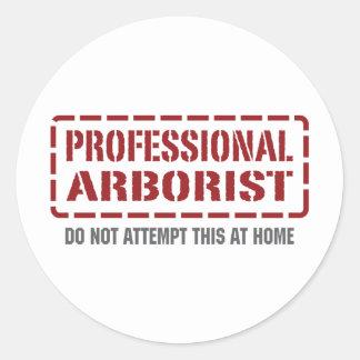 Arborista profesional etiquetas redondas