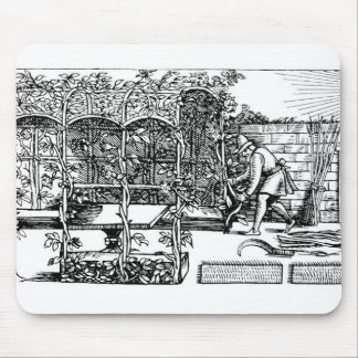 Arbour being built as a shade against the sun, fro mouse pad