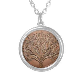 Arbre de L'espoir, Tree of Hope Silver Plated Necklace