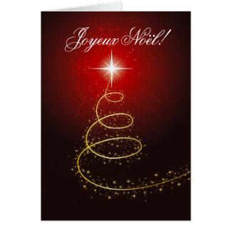 Arbre de Noël Abstrait rouge cartes Card