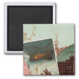 Arbuckles' illustrated atlas 2 inch square magnet