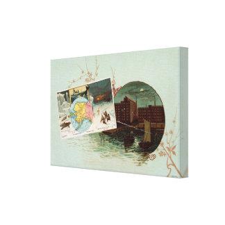 Arbuckles' illustrated atlas canvas print