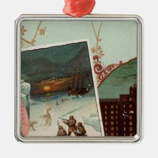 Arbuckles' illustrated atlas metal ornament