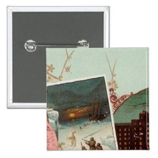 Arbuckles' illustrated atlas pinback button