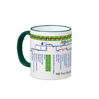 Arbury Canal Route Map Ringer Mug