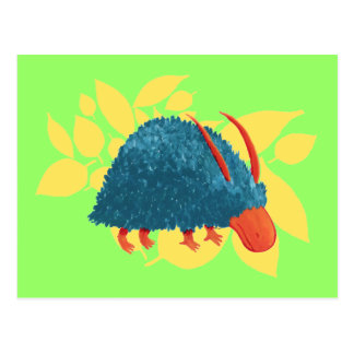 Arbusto-monstruo misterioso tarjeta postal
