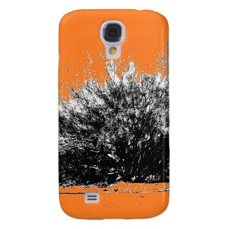Arbusto salvaje del desierto con el naranja