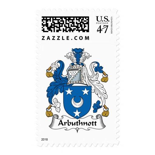 Arbuthnott Family Crest Postage Stamp
