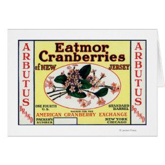 Arbutus Eatmor Cranberries Brand Card